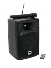 Omnitronic WAMS-85BT kannettava PA- langattomalla mikrofonilla ja ladattavalla akulla