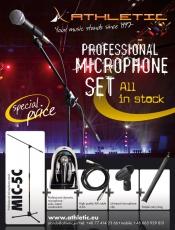 Athletic MIC-ZE mikrofoni ja telinepaketti