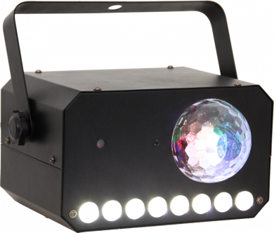 Ibiza Light 3in1 astro, strobe ja laser ominaisuuksilla