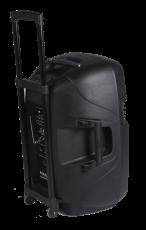 Ibiza Sound Hybrid12 kannettava akkukäyttöinen 500W aktiivikaiutin+ kaksi langatonta mikkiä/USB/SD+BT