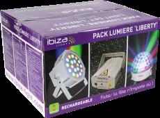 Ibiza Light set kolmen valon akkukäyttöinen paketti