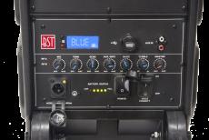 BST IPS10-250 roiskevedenkestävä kannettava akkukäyttöinen aktiivikaiutin + 2 mikkiä,BT, USB