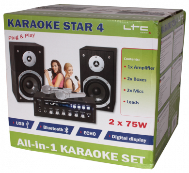 LTC Karaoke Star 4 All-in One set, 2 x 75W