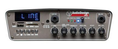 AudioDesignPRO M2 12WL kannettava akkukäyttöinen aktiivikaiutin +kaksi langatonta mikkiä/USB/BT/SD