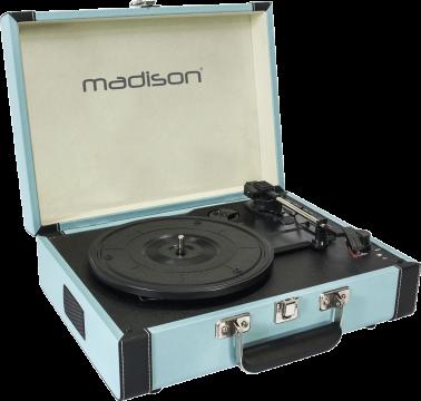 Madison Levysoitin Kantolaatikossa (sininen)