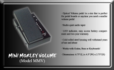 Morley MMV Mini volumepedaali