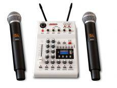 AudioDesign PAMX2.12/2UHF mikseri kahdella langattomalla mikillä
