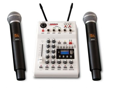 AudioDesignPRO PAMX2 12/2UHF  kaksi langatonta mikrofonia ja mikseri