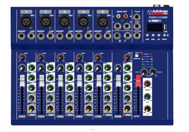AudioDesign PAMX1.51USB mikseri EFX/BT/USB
