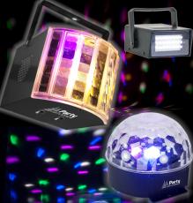 Discovalopaketti jossa kolme erilaista valoa