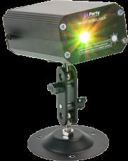 Upee Firefly LED-laser vihreillä ja punaisilla valoilla