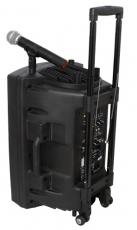 Ibiza Sound PORT10 kannettava akkukäyttöinen 500W aktiivikaiutin+langaton mikki/USB/SD+BT