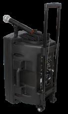 Ibiza Sound Kannettava akkukäyttöinen 800W kaiutin+ kaksi langatonta mikkiä/USB/SD+BT