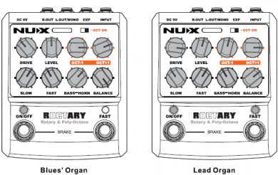 NUX Roctary Rotary & Octave pedaali