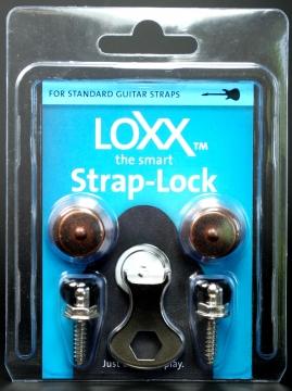 LOXX hihnalukot sähkökitaralle antiikki kupari