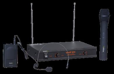 Ibiza Sound VHF-2 headset + käsimikrofoni langaton järjestelmä