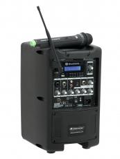 Omnitronic kannettava PA- langattomalla mikrofonilla ja ladattavalla akulla