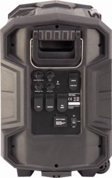 Ibiza Sound vedenkestävä akkukäyttöinen kaiutin+langaton+mikki+USB/SD